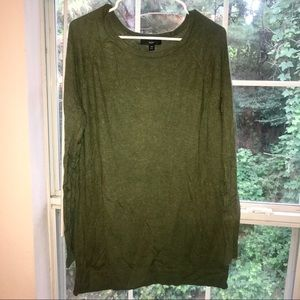 Mossimo olive green sweater dress